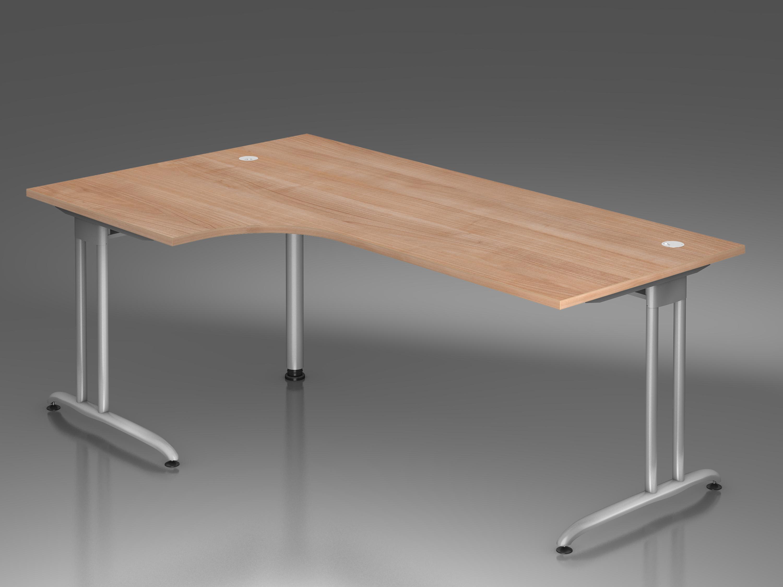 Schreibtisch serie c1 winkelform 90 200 x 120 cm for Schreibtisch 250 cm