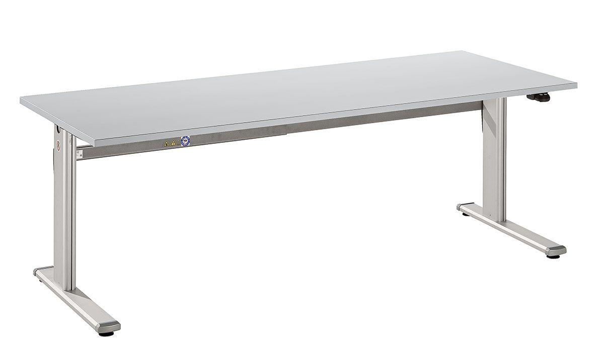 Schreibtisch serie ce3 180 x 80 cm e h henverstellbar for Schreibtisch 80 cm tief