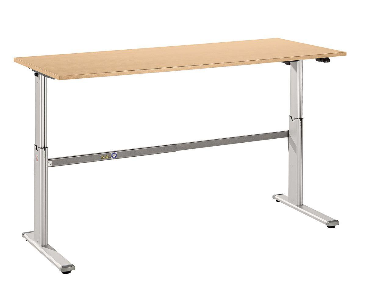 Schreibtisch serie ce3 180 x 80 cm e h henverstellbar for Schreibtisch 90 x 180