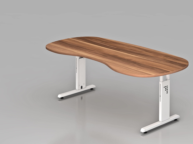 schreibtisch serie ch2 200 x 100 cm h henverstellbar in nierenform bueromoebel. Black Bedroom Furniture Sets. Home Design Ideas