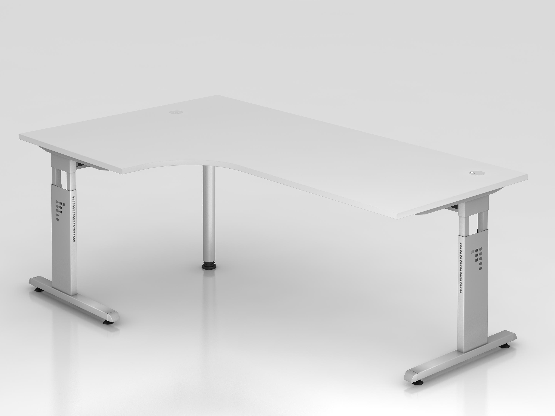 Schreibtisch serie ch2 200 x 120 cm h henverstellbar in for Schreibtisch 200 x 60