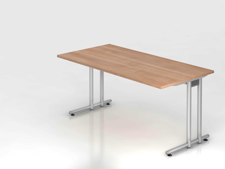 Schreibtisch serie c3 160 x 80 cm gestell chrom for Schreibtisch 60 x 160