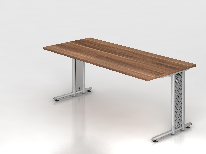 Schreibtisch serie c3 180 x 80 cm gestell chrom for Schreibtisch 90 x 180