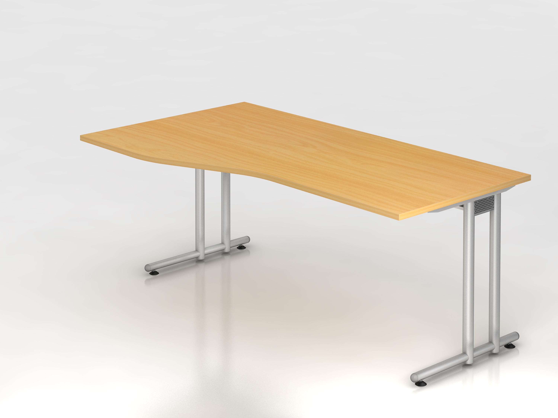 Schreibtisch serie c3 180 x 100 cm gestell chrom for Schreibtisch 90 x 180
