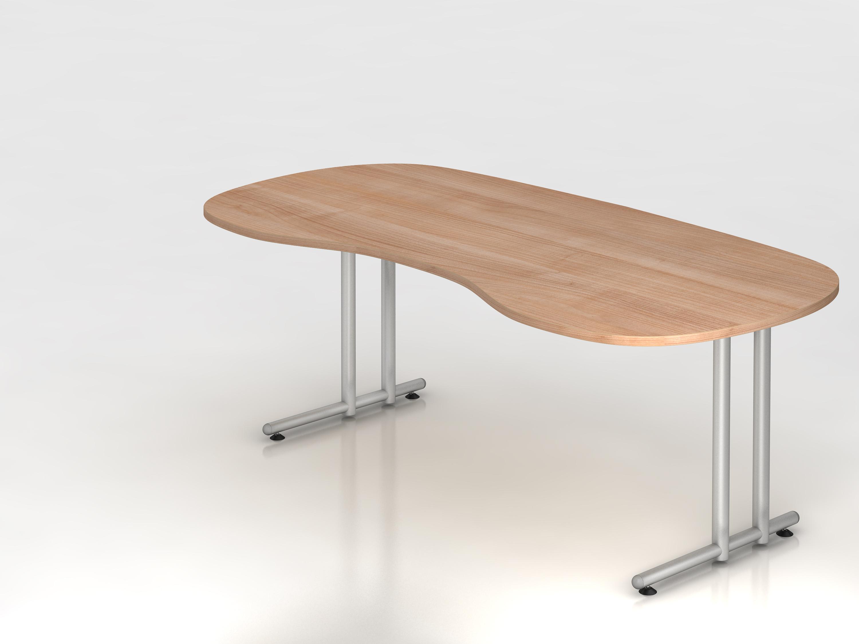 Schreibtisch serie c3 200 x 100 cm gestell chrom in for Schreibtisch 200 x 60
