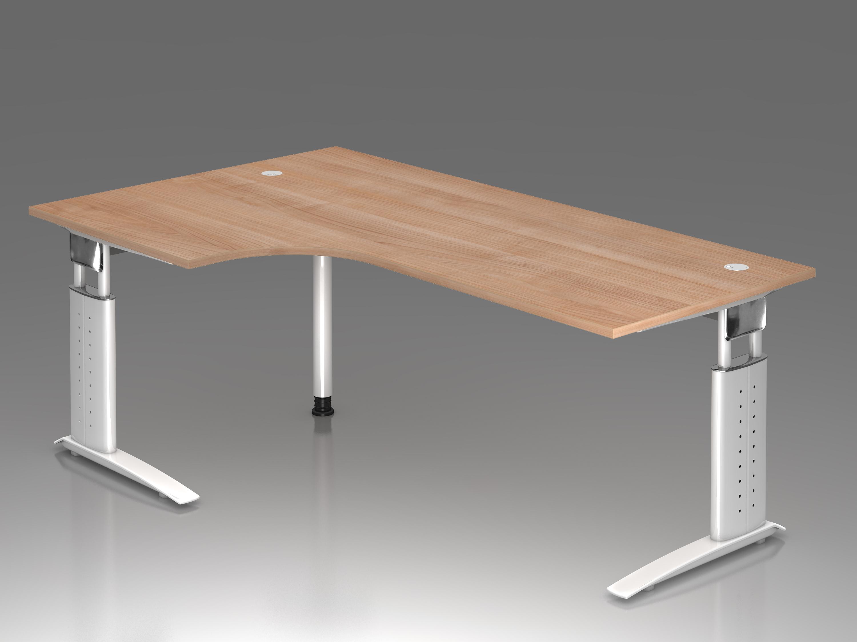 Schreibtisch serie ch3 200 x 120cm winkelform 90 for Schreibtisch 200 x 60