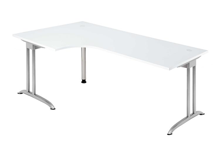 Schreibtisch winkelform 90 c1 200 x 120 cm bueromoebel for Schreibtisch 90 cm