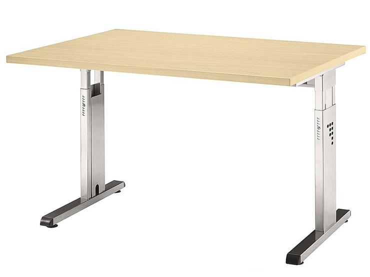 Schreibtisch serie ch2 120 x 80 cm h henverstellbar for Schreibtisch 50 x 120