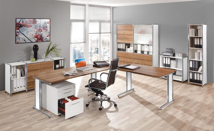Schreibtisch glas und chrom bueromoebel for Schreibtisch glas