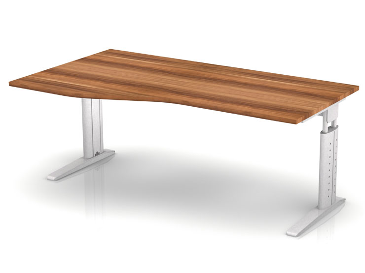 Schreibtisch serie ch3 180 x 100 cm h henverstellbar in for Schreibtisch 90 x 180