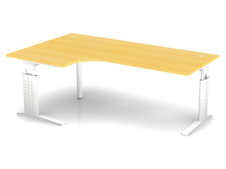 Schreibtisch ch3 h henverstellbar bogentisch 200 x 120cm for Schreibtisch 50 x 120