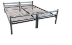Stahl Bett mit Gitterboden Einzelstellung