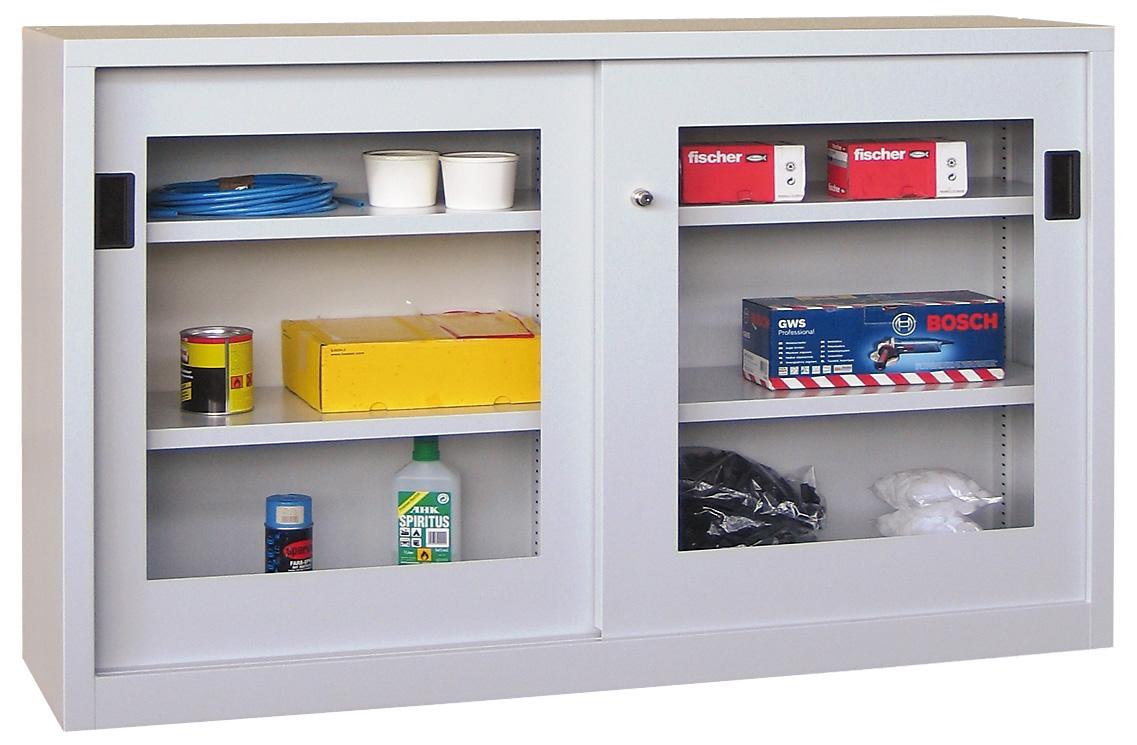 stahl schiebet renschrank 100 cm hoch 150 cm breit mit. Black Bedroom Furniture Sets. Home Design Ideas