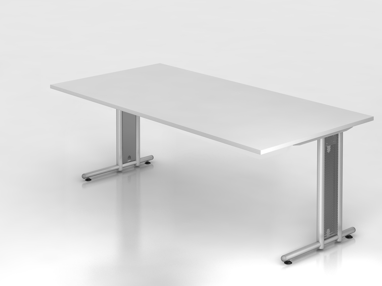 schreibtisch serie c3 200 x 100 cm gestell chrom. Black Bedroom Furniture Sets. Home Design Ideas
