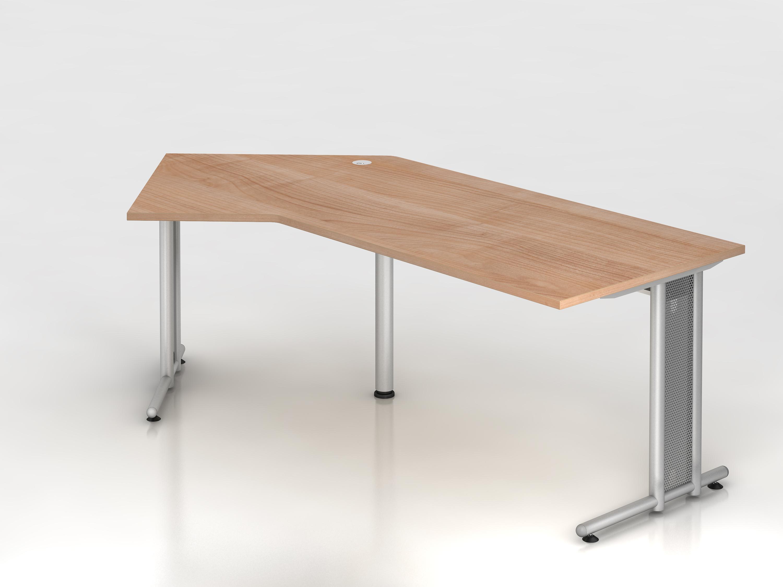 Schreibtisch serie c3 200 x 120 cm gestell chrom in for Schreibtisch 200 x 60