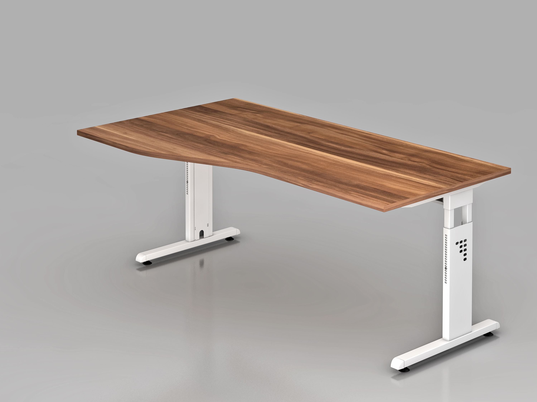 Schreibtisch serie ch2 180 x 100 cm freiform for Schreibtisch 90 x 180