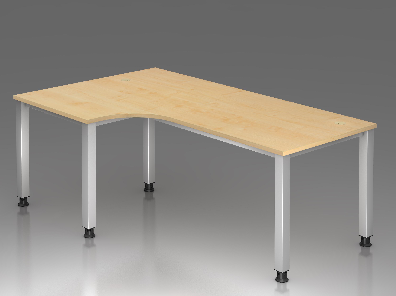 schreibtisch serie q1 200 x 120 cm h henverstellbar winkelform 90 bueromoebel. Black Bedroom Furniture Sets. Home Design Ideas