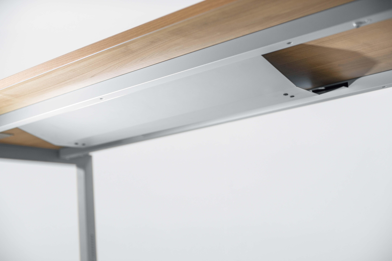schreibtisch serie u 200 x 120 cm h henverstellbar. Black Bedroom Furniture Sets. Home Design Ideas