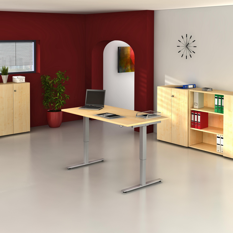 Elektrisch höhenverstellbarer Schreibtisch 120 x 80 cm - bueromoebel ...
