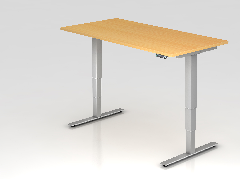 Elektrisch h henverstellbarer schreibtisch 160 x 80 cm der for Schreibtisch xdsm 16