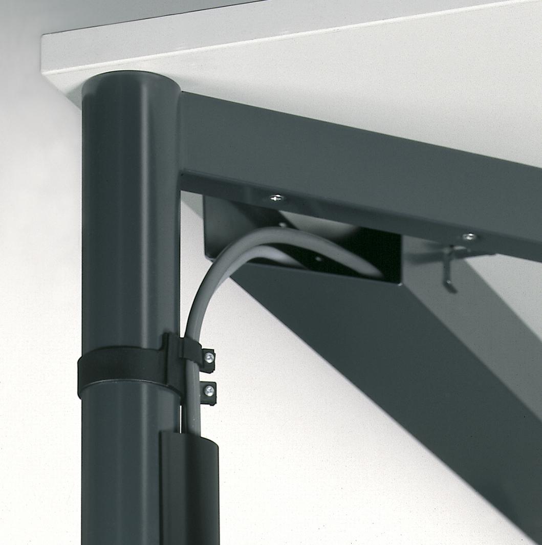 Schreibtisch serie r1 160 x 80 cm h henverstellbar for Schreibtisch 1 80 m