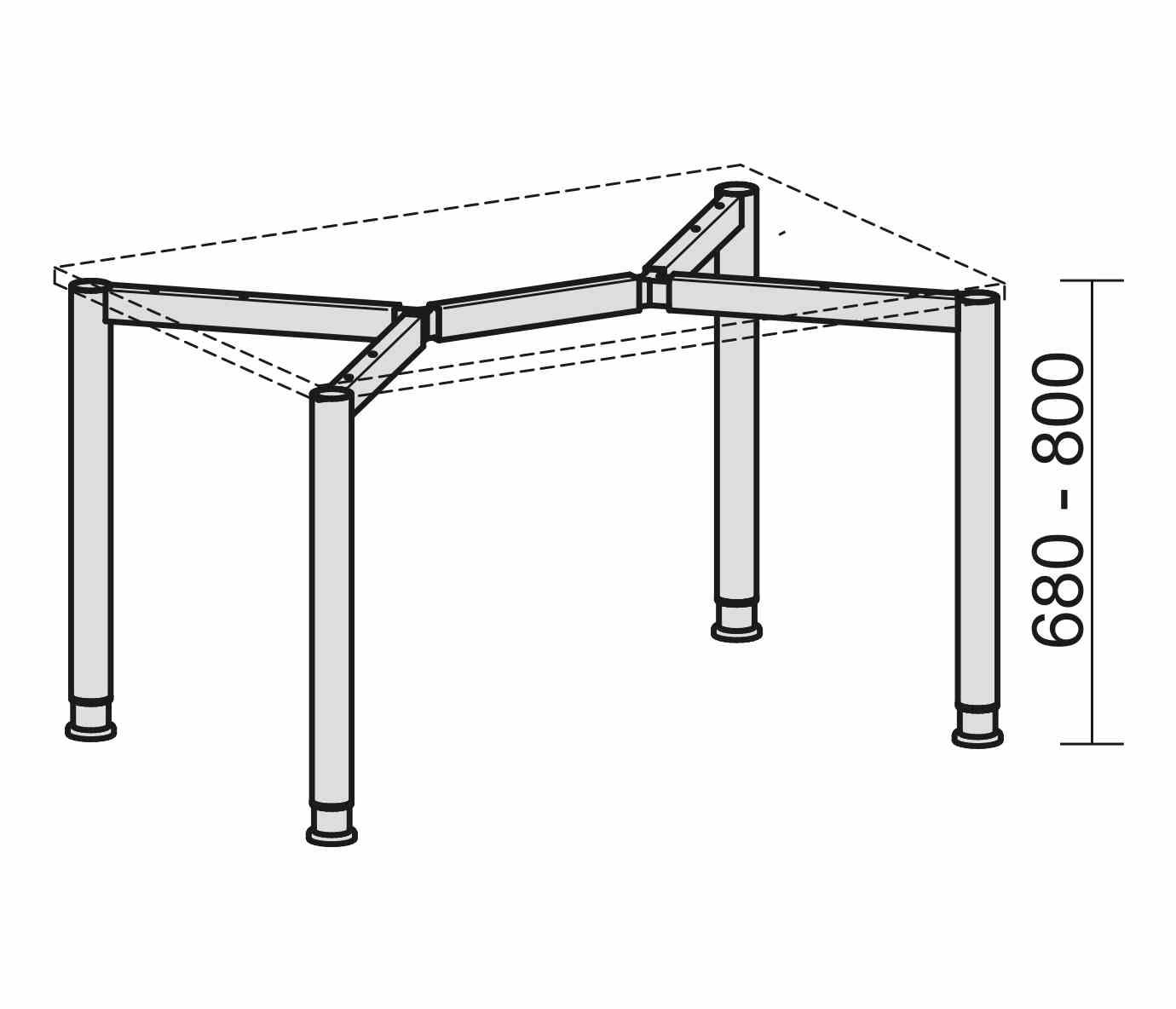 schreibtisch serie r1 160 x 80 cm h henverstellbar. Black Bedroom Furniture Sets. Home Design Ideas
