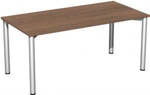B008-R1-100-Schreibtisch 140x80 nussbaum