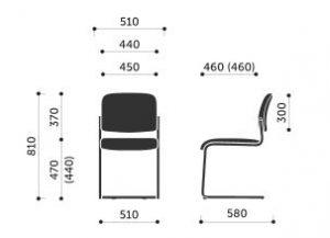 Maße Freischwinger MKK M016