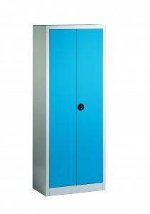 Stahlschran mit blauen Türen 130124_S029