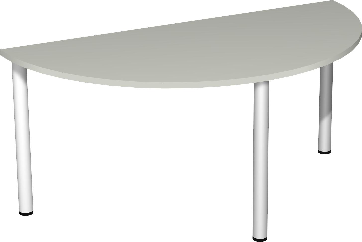 Konferenztisch halbkreis 160 cm breit mit rundfu for Schlafzimmerschrank 160 cm breit