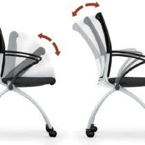 Schulunsgstuhl auf Rollen klappbar M012